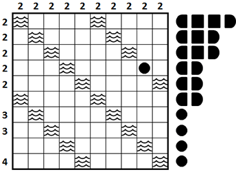 Battleships Sample Puzzle