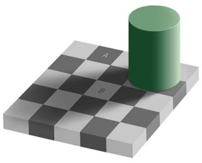 Gray Squares Optical Illusion